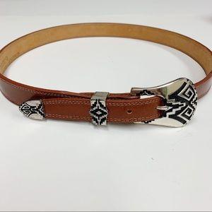 Nocona Leather Western Belt 32 B225